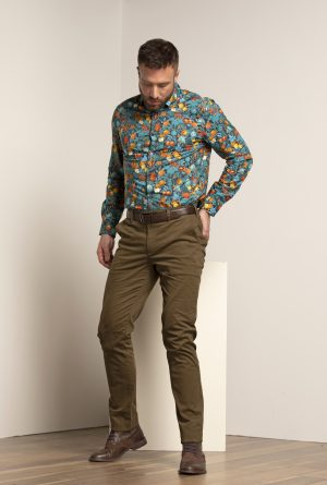 mitchell_shirt_fruit print_pattern_casual_multicolor_mens woven shirt fashion casual wear