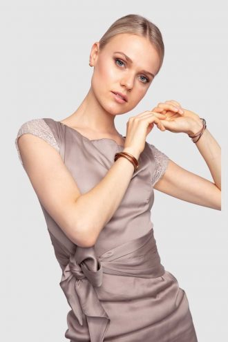 Discover the Passion classic satin dress with bow